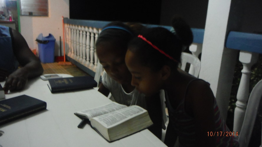 The Nieces Reading Scriptures
